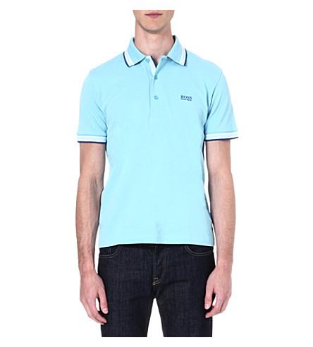 HUGO BOSS Paddy cotton-piqué polo shirt (Blue
