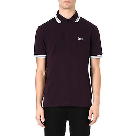HUGO BOSS Paddy basic logo polo shirt (Purple
