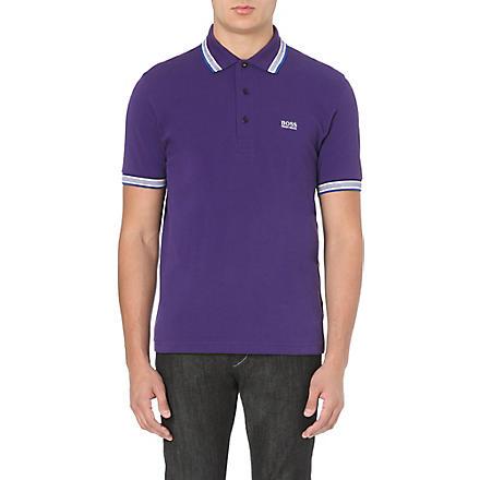 HUGO BOSS Paddy cotton-piqué polo shirt (Parachute