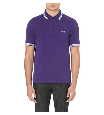 HUGO BOSS Paddy cotton-piqué polo shirt (Parachute