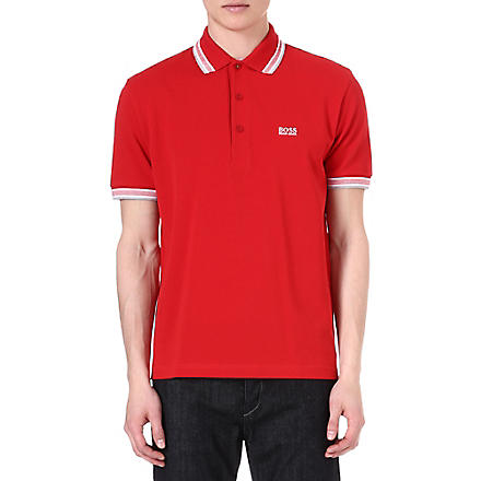 HUGO BOSS Paddy plain polo shirt (Red