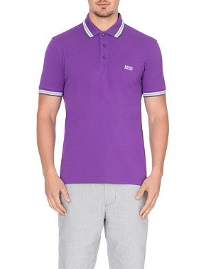 HUGO BOSS Paddy contrast-trim polo shirt