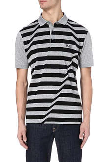 HUGO BOSS Skewed stripe polo shirt