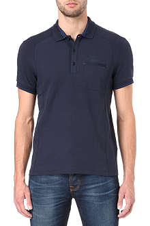 HUGO BOSS Pagno panelled polo shirt