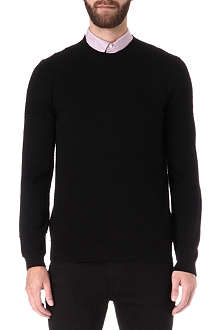 HUGO BOSS Paolino cotton and silk-blend jumper