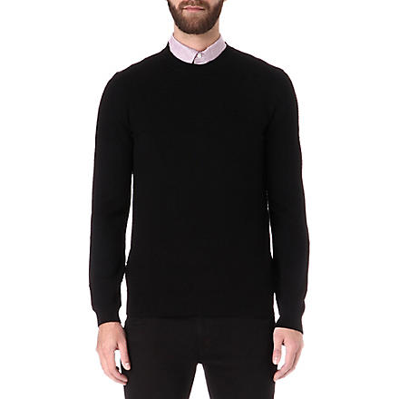 HUGO BOSS Paolino cotton and silk-blend jumper (Black