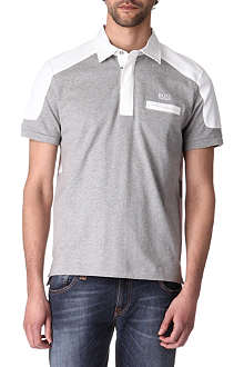 HUGO BOSS Contrast stripe rugby shirt