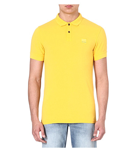 HUGO BOSS Logo polo shirt (Yellow