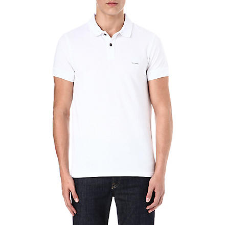 HUGO BOSS Pascha cotton-piqué polo shirt (White