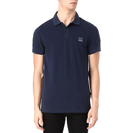 HUGO BOSS Pascha cotton-piqué polo shirt (Blue