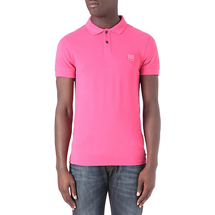 HUGO BOSS Pascha cotton-piqué polo shirt (Pink
