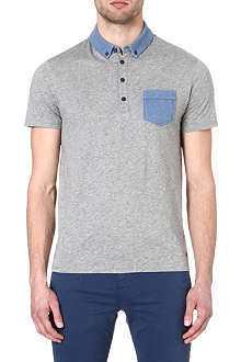 HUGO BOSS Contrast collar polo shirt