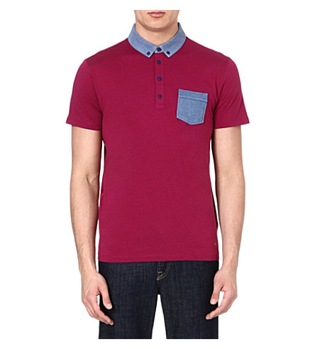 HUGO BOSS Contrast polo shirt (Purple
