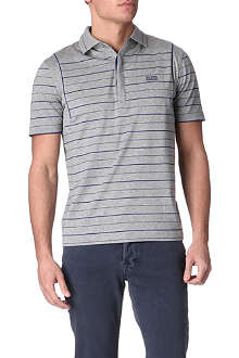 HUGO BOSS Patto striped cotton polo shirt
