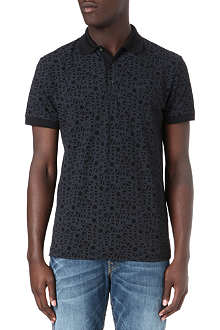HUGO BOSS All-over logo polo shirt