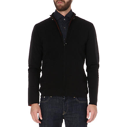 HUGO BOSS Pegasus knitted jacket (Black
