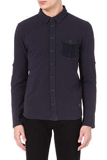 HUGO BOSS Long-sleeve cotton polo shirt