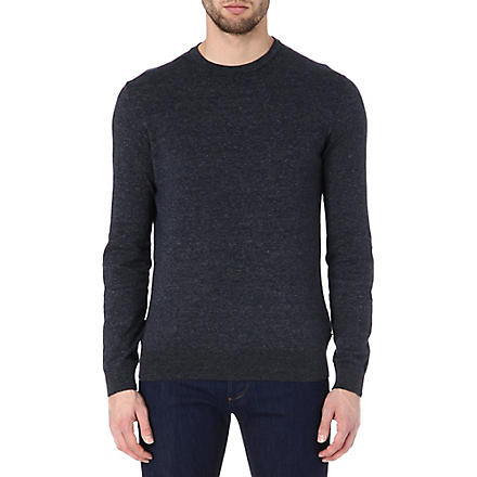 HUGO BOSS Perino elbow-patch jumper (Blue