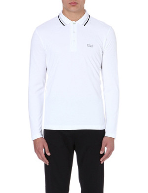 HUGO BOSS Plisy cotton-piqué polo shirt