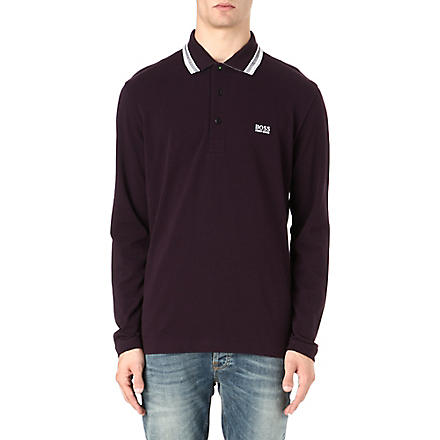 HUGO BOSS Cotton-piqué polo shirt (Purple