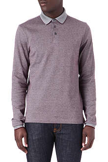 HUGO BOSS Layered collar regular-fit polo shirt