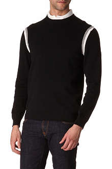 HUGO BOSS Rabs striped-trim jumper