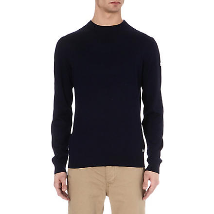 HUGO BOSS Merino wool crew-neck jumper (Navy