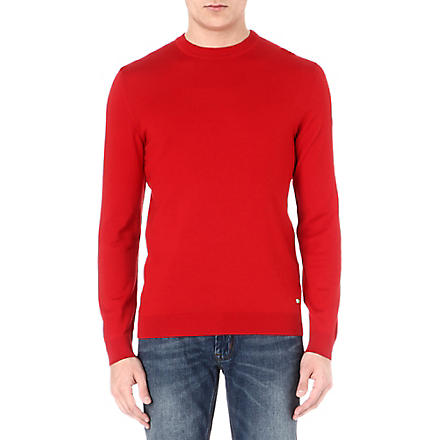 HUGO BOSS Rando wool jumper (Red