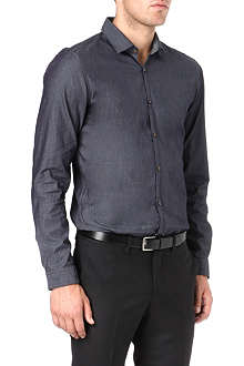 HUGO BOSS Slim placket chambray shirt