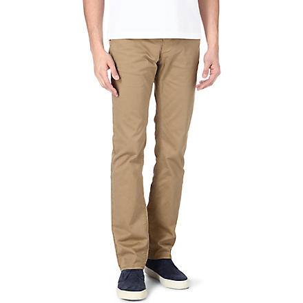 HUGO BOSS Rice slim-fit stretch-cotton chinos (Tan