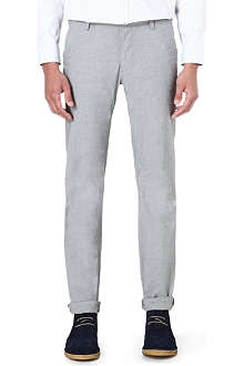 HUGO BOSS Slim-fit cotton mix trousers