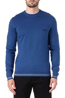 HUGO BOSS Crew neck cotton logo jumper