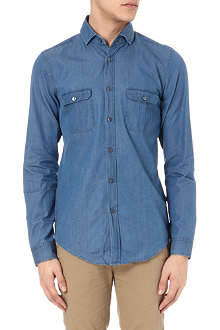 HUGO BOSS Double pocket denim shirt