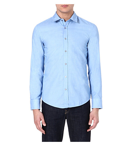 HUGO BOSS Ronny slim-fit shirt (Blue