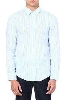 HUGO BOSS Ronny striped linen shirt