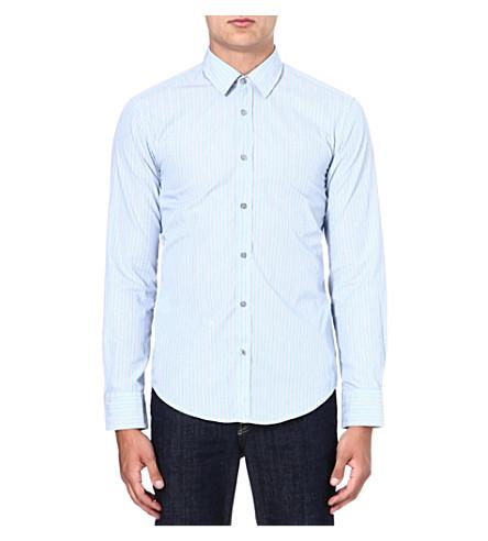 HUGO BOSS Ronny rope stripe shirt (Blue