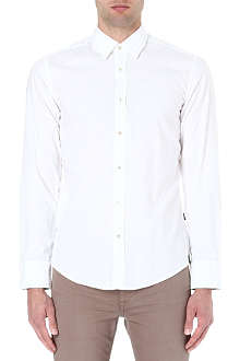 HUGO BOSS Plain oxford shirt