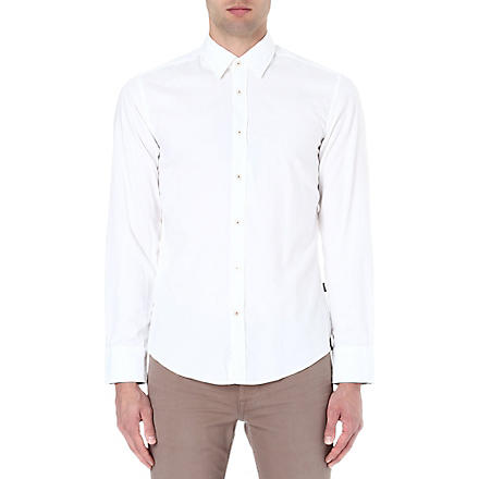 HUGO BOSS Plain oxford shirt (White