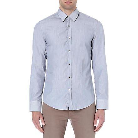 HUGO BOSS Fine stripe shirt (Blue
