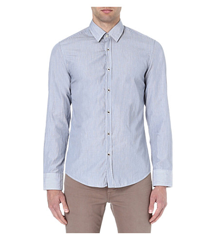 HUGO BOSS Fine stripe shirt (Blue
