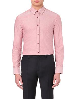 HUGO BOSS Slim-fit oxford dobby-pattern shirt