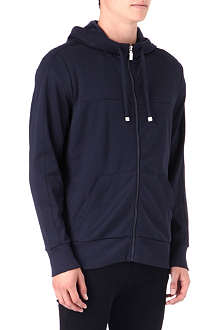 HUGO BOSS Zip-through plain hoody