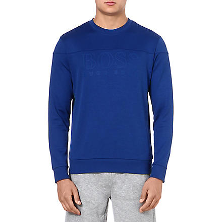 HUGO BOSS Salbo logo sweatshirt (Blue