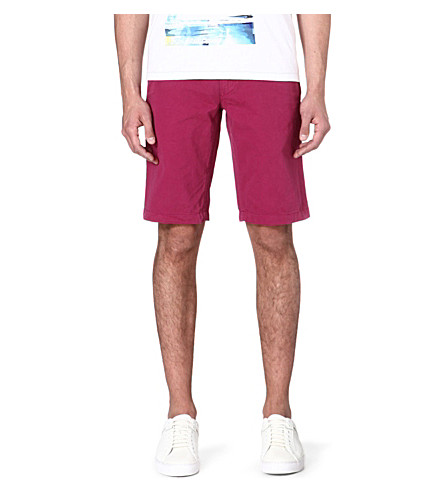 HUGO BOSS Schino cotton shorts (Purple