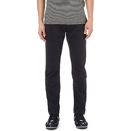 HUGO BOSS Slim stretch-cotton chinos (Navy