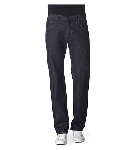 HUGO BOSS Scout 1 straight-leg jeans (Navy