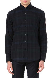 HUGO BOSS Checked regular-fit shirt