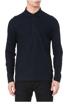 HUGO BOSS Long-sleeved piqué polo shirt