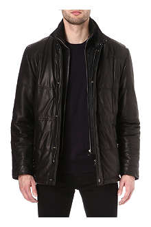 HUGO BOSS Sinom quilted-leather jacket