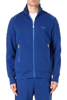 HUGO BOSS Panelled zip through hoodie